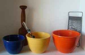 Vintage Fiesta Mixing Bowls